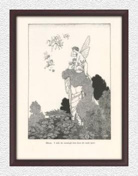 オベロン- ウィリアム・ヒース・ロビンソン 『夏の夜の夢』 復刻版 挿絵