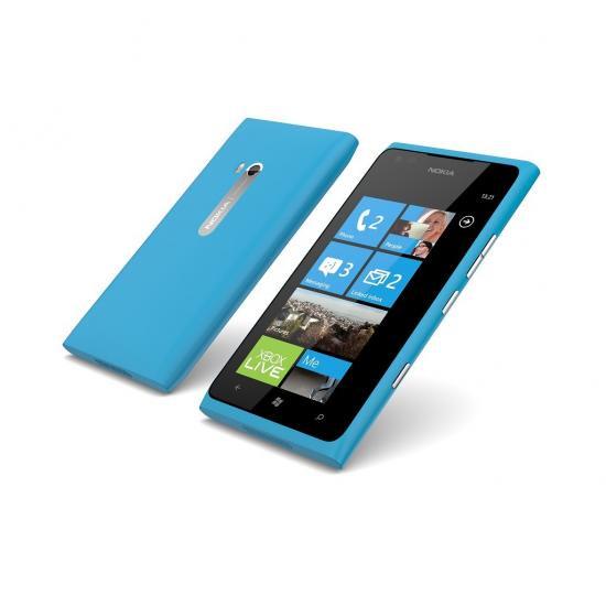 【送料無料】【即納】 ノキア製 Nokia Lumia 900 (シムフリー)(nokiaブルー)シムカッターセット