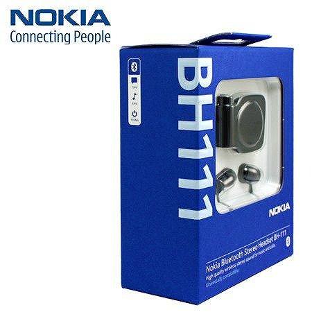 【送料無料】【即納】 ノキア製 Nokia Bluetooth Headset BH-111 (マットブラック)