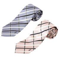 ネクタイ 西陣織 シルク 2本セット チェック柄 10%オフ- 09. セイクレッド 2カラーセット 日本製