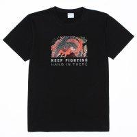 抗ウイルス 抗菌加工 Tシャツ ユニセックス「Keep Fighting」 キープ・ファイティング ティーシャツ 日本製