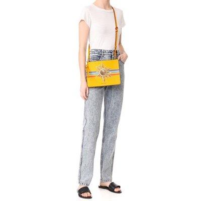 fe8194c35399 Womens Bag (M0010971). 商品説明.  Marc Jacobsクロスボディーバッグ!  MARC JACOBS Rainbow  Flat Crossbody Sunny Yellow