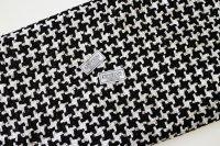 リントン社シャネルツイード black and white fabric