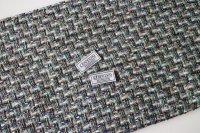 リントン社シャネルツイード pastels,green and blue fabric