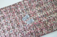 リントン社シャネルツイード cream pink and gold fabric
