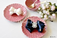 【写真素材】ラブリボン、白いナタリー&ネイビー ミランダ、薔薇の花束(Mサイズ)