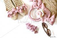 【写真素材】ラブリボン、ピンク、かごバッグ、スカーレット、ガマスリッパ、サングラス(Mサイズ)