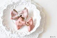 【写真素材】ラブリボン、ピンク、ヴィヴィアン、洋食器、白(Mサイズ)