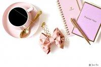 【写真素材】ラブリボン、ピンク、キャメロン、コーヒー、ステーショナリー(Mサイズ)