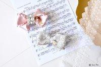 【写真素材】ラブリボン、ピンク、ミランダ、ヴィヴィアン、楽譜、レース(Sサイズ)