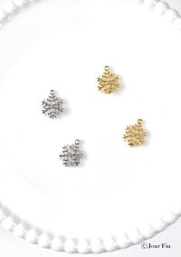雪の結晶チャーム:同色5個セット