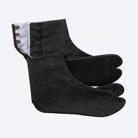 黒デニム 足袋 ストレッチ 5枚コハゼ きねや足袋