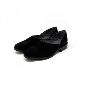 スウェード 広巾 本革法衣靴(ドクターシューズ/道中沓/法務履)  #TS1300