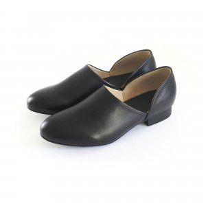 【当店オリジナル】スムースレザー 本革法衣靴(法務靴/道中沓/ドクターシューズ) ワイズ2E #74  ブラック