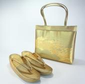 礼装用 帯地本革草履バッグセット