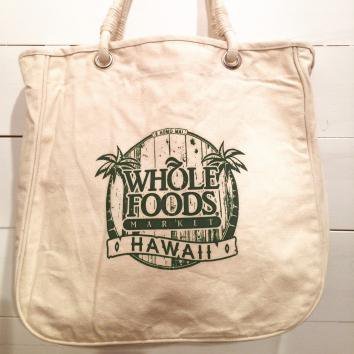 TAG ALOHA COTTON TOTE ROPE