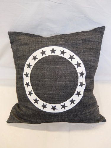 Emiliano denim star cushion