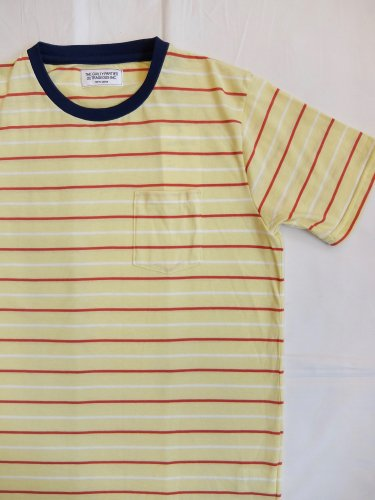 WACKO MARIA STRIPED CREW NECK T-SHIRT