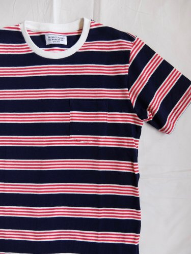 WACKO MARIA STRIPED CREW TEE (TYPE 3)