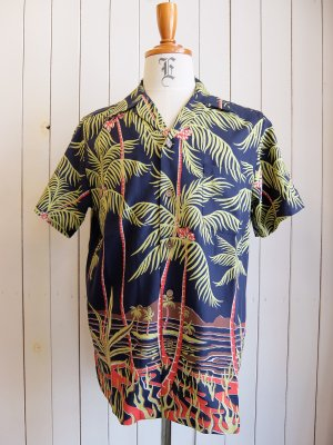 WACKOMARIA PALMS TREE S/S HAWAIIAN SHIRT
