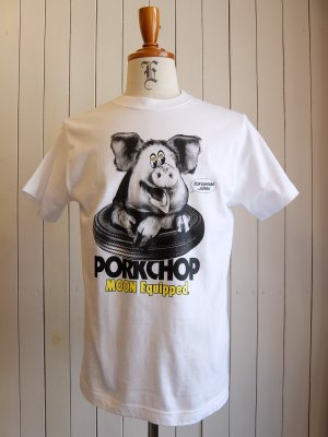 PORK CHOP × MOON EYES PORK MOON PHOTO TEE