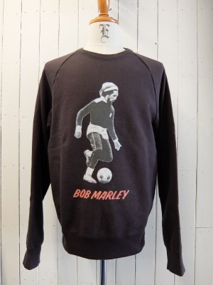 WACKOMARIA BOB MARLEY × WACKO MARIA WASHED HEAVY WEIGHT CREW NECK SWEAT SHIRT (TYPE-3)