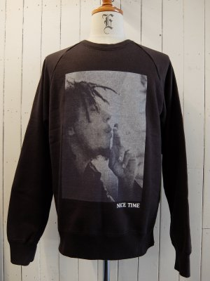 WACKOMARIA BOB MARLEY × WACKO MARIA WASHED HEAVY WEIGHT CREW NECK SWEAT SHIRT (TYPE-1)