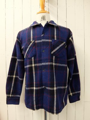 RATS BLUE CHECK WOOL SHIRT