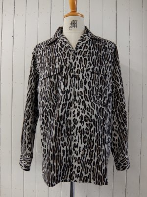 WACKO MARIA  LEOPARD FLANNEL OPEN COLLAR SHIRT (TYPE-2)