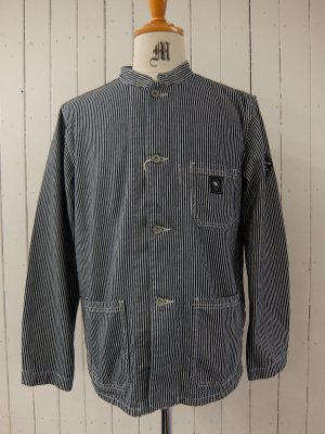 RATS STAND COLLAR DENIM SHIRT JKT