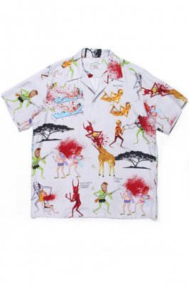 WACKO MARIA NECK FACE / S/S HAWAIIAN SHIRT