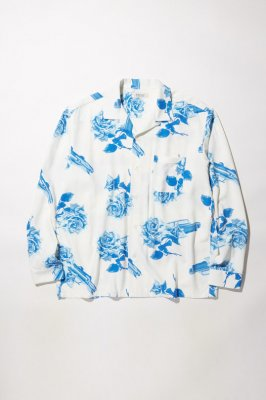 RADIALL CHEVY ROSE - OPEN COLLARED SHIRT L/S