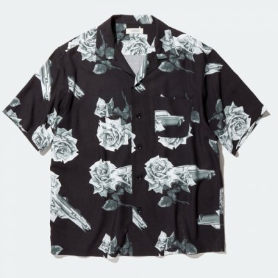RADIALL CHEVY ROSE - OPEN COLLARED SHIRT S/S