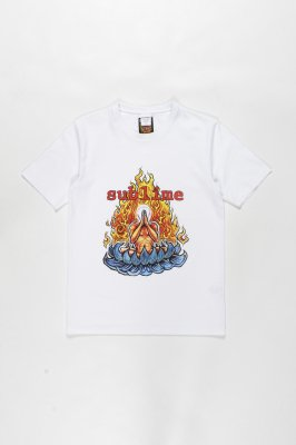 WACKO MARIA SUBLIME / WASHED HEAVY WEIGHT CREW NECK T-SHIRT ( TYPE-4 )