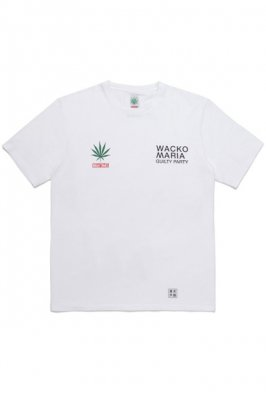 WACKO MARIA HIGHTIMES / WASHED HEAVY WEIGHT CREW NECK T-SHIRT