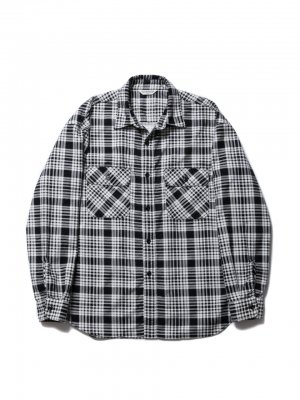 COOTIE Print Nel Check Work Shirt