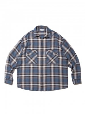COOTIE Ombre Nel Check Zip Up Shirt