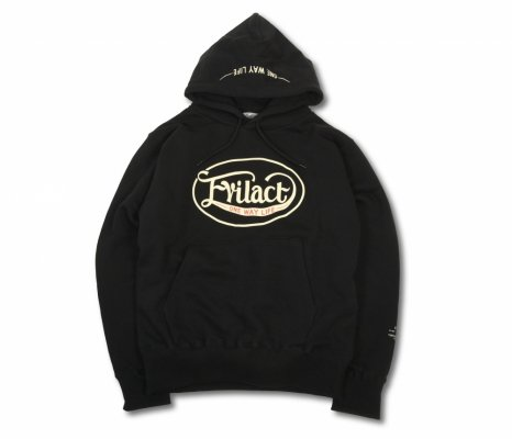 EVILACT Oval Logo Pullover Hooded Sweatshirt