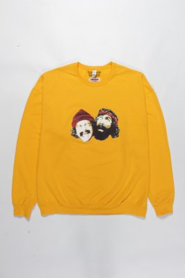 WACKO MARIA UP IN SMOKE / CREW NECK SWEAT SHIRT ( TYPE-2 )