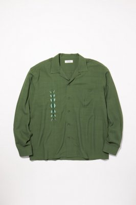 RADIALL HARVEST - OPEN COLLARED SHIRT L/S