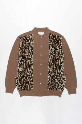 WACKO MARIA TWO-TONE KNIT POLO CARDIGAN (TYPE-2)