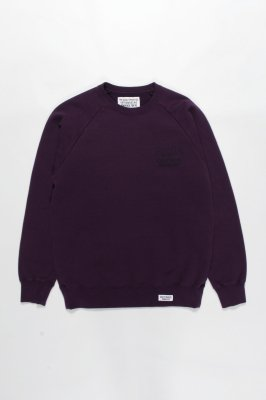 WACKO MARIA FANIA / WASHED HEAVY WEIGHT CREW NECK SWEAT SHIRT ( TYPE-5 )