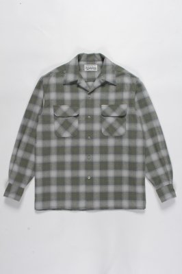 WACKO MARIA OMBRAY CHECK OPEN COLLAR SHIRT (TYPE 2)