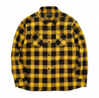 RATS PRINT FLANNEL CHECK SHIRT