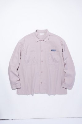RADIALL SLOW BURN - OPEN COLLARED SHIRT L/S