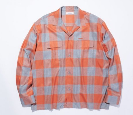 RADIALL LONG BEACH - OPEN COLLARED SHIRT L/S