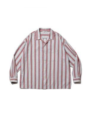 COOTIE Snake Stripe Open-Neck L/S Shirt
