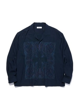 RADIALL KUNG-FU ROSE - OPEN COLLARED SHIRT L/S