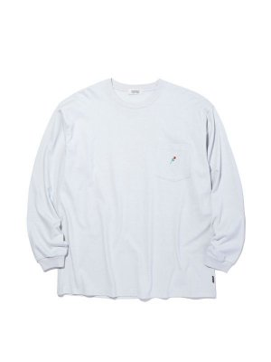 RADIALL ROSE - CREW NECK POCKET T-SHIRT L/S
