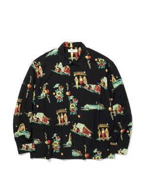RADIALL LOWLOW - OPEN COLLARED SHIRT L/S
